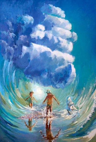 Картина Ксении Черномор – Детство проходит в Солнце, именно в детстве мы наиболее счастливы. Почему?