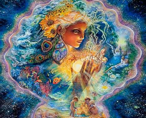 Картина Жозефины Волл. Мы сами создаем свои миры, а затем живем в них!