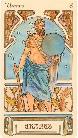 Изображение Урана в традициях греко-римских пантеонов